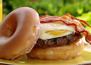 Donute Burger for Breaksfast