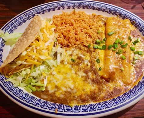 Plate of Mexican Food By Gail Worley