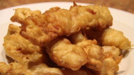 Tempura Fried Bacon Strips