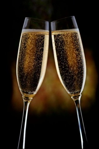 Two Flutes Champagne Toast