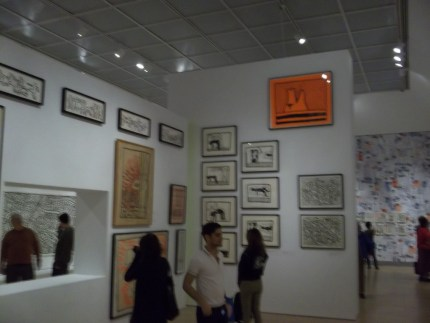 Keith Haring Exhibit Crowd