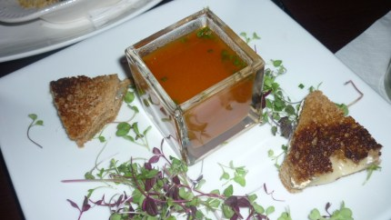 Grilled Cheese With Heirloom Tomato Soup