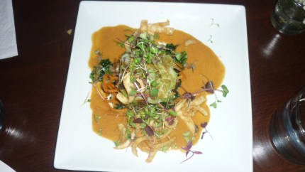 Rice Crispy Crusted Monkfish