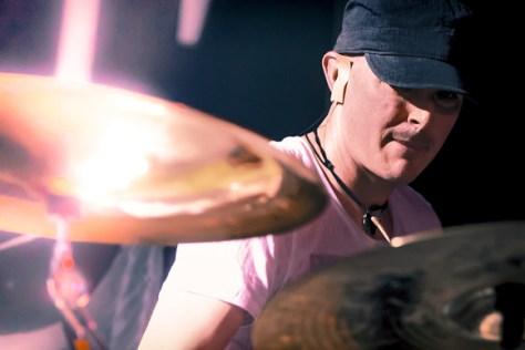 Drummer Johnny Venus of Greek Fire