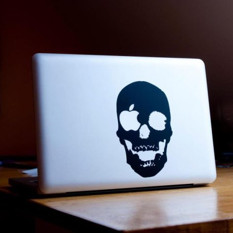 Skull MacBook Sticker 2
