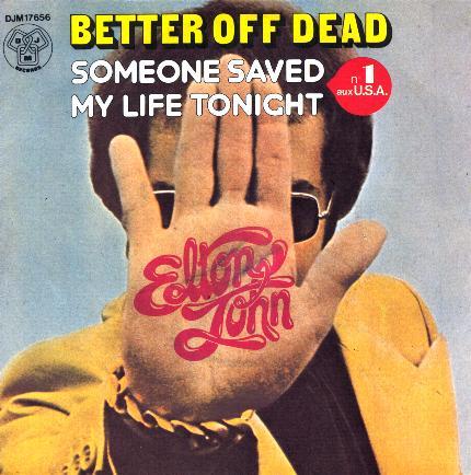 Elton John Better Off Dead Single Cover Art
