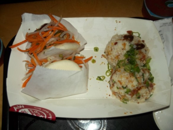 Bacon Sticky Rice and Buns