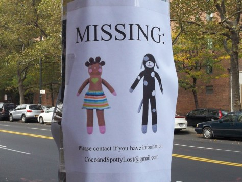 Missing Sock Dolls  Coco and Spotty