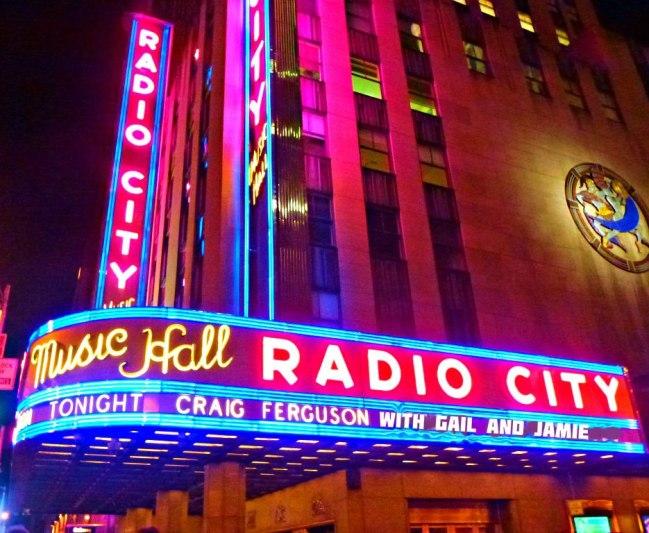 Radio City Craig Ferguson Marquee