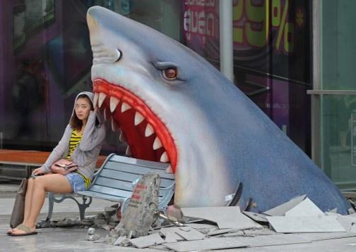 Shark Attack Bench
