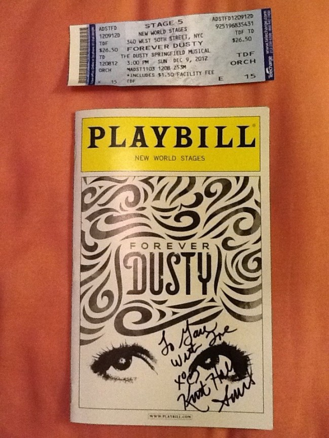 Forever Dusty Playbill and Ticket