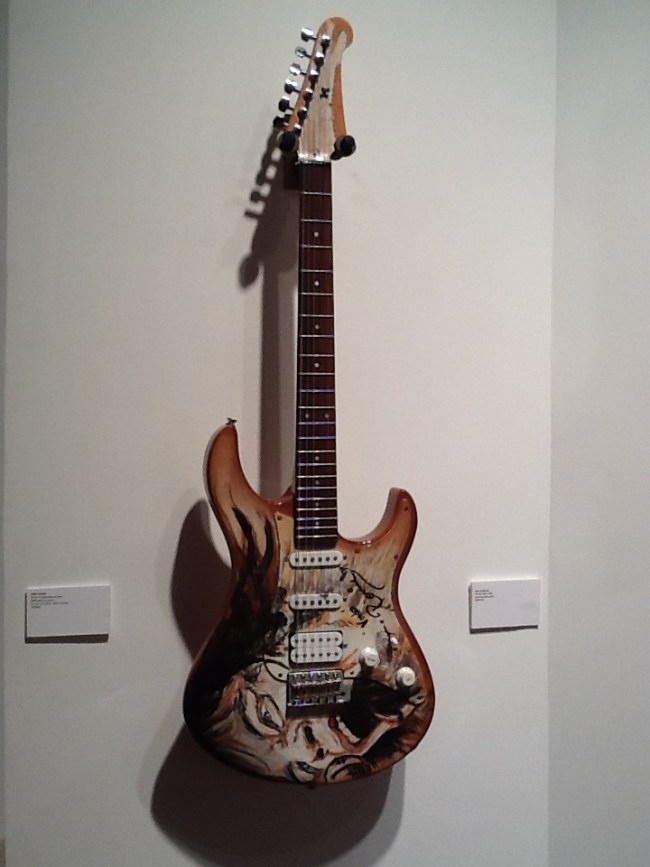 Guitar Painted By Ron Wood