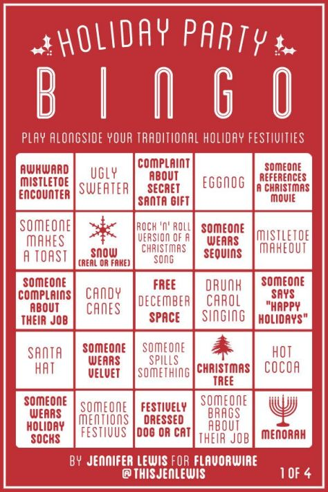 Holiday Bingo Card