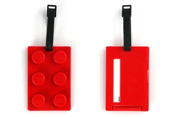 LEGO Brick Luggage Tag Red