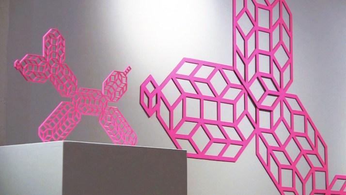 Pink Geometric Balloon Dog By Aakash Nihalani