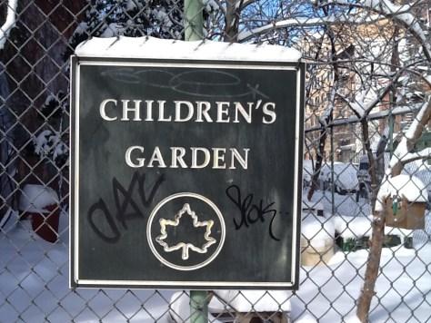 Children's Garden Sign
