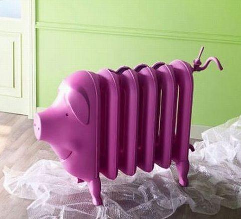 pink pig radiator