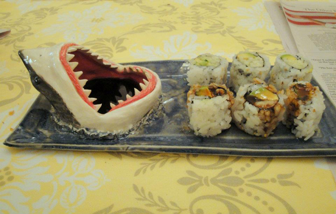 Shark Attack Sushi Plate