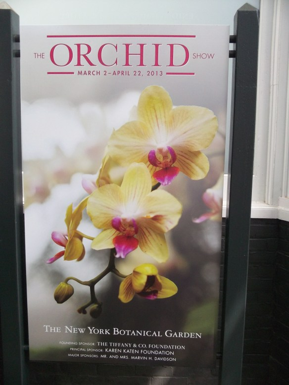 NYBG Orchid Show Signag