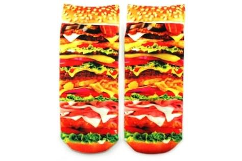 Burger Womens Ankle Socks