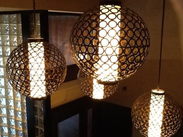Desmonds Globe Lighting Front Entrance