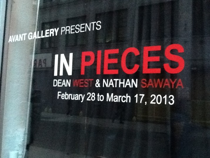 In Pieces Exhibit Signage