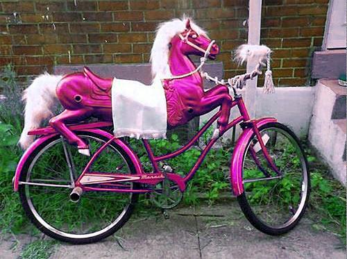 Pink Hobby Horse Bike