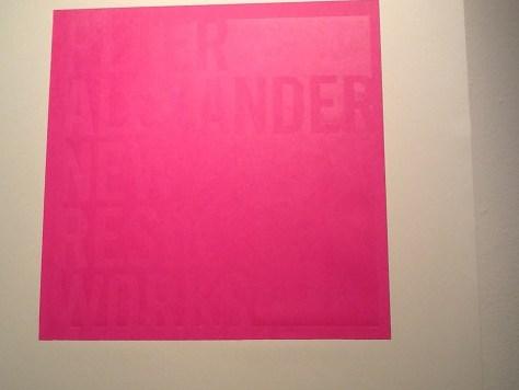 Pink Signage for Peter Alexander Show
