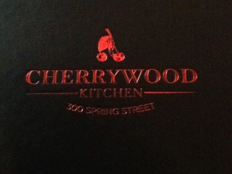 Cherrywood Kitchen Menu Cover