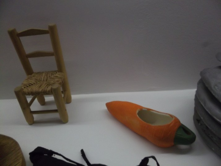Small Chair and Carrot Dish