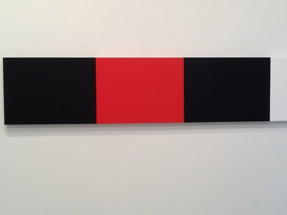 Ellsworth Kelly at Ninety Red and Black Bars