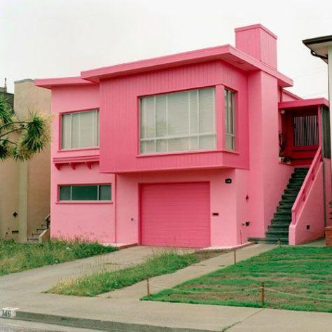 Pink Retro Modern House