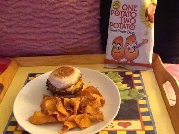 Sweet Chips with Burger