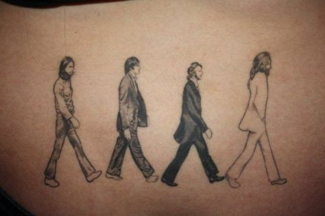 Beatles Abbey Road Tattoo