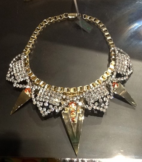 Diamond Spike Collar Necklace