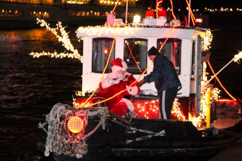 Santa on a Tugboat