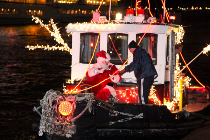 Santa on a Tugboat