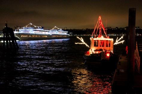 Lights on a TugBoat