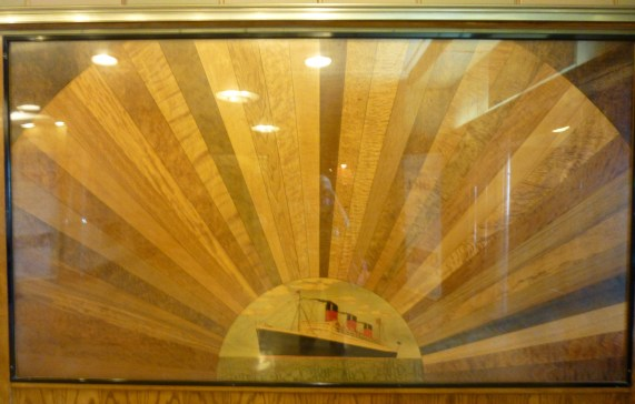 Wood Inlay Mural of the Ship