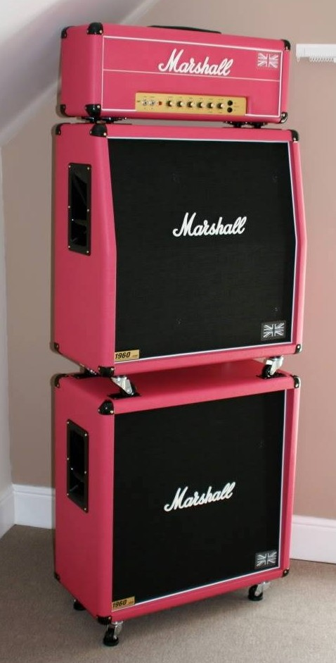 Pink Marshall Amp Stack