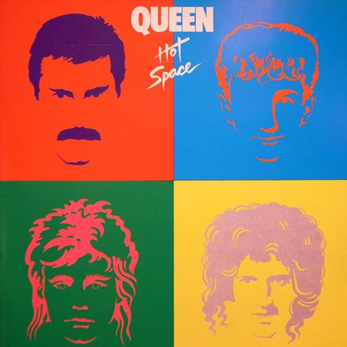 Queen Hot Space Cover Art