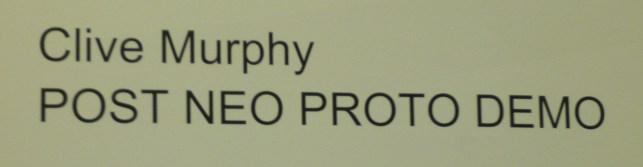 Clive Murphy Post Neo Proto Demo