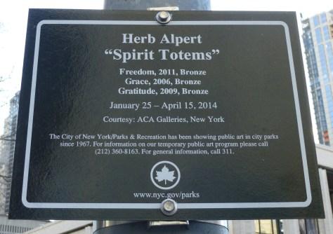 Herb Alpert Spirit Totems Signage