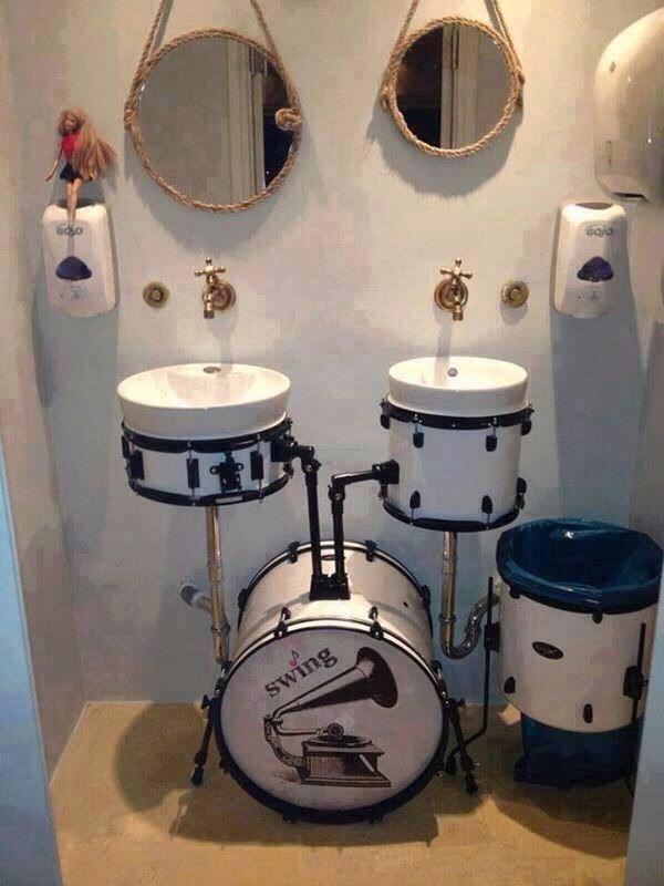 Drumset Bathroom Sick Drummer Mag