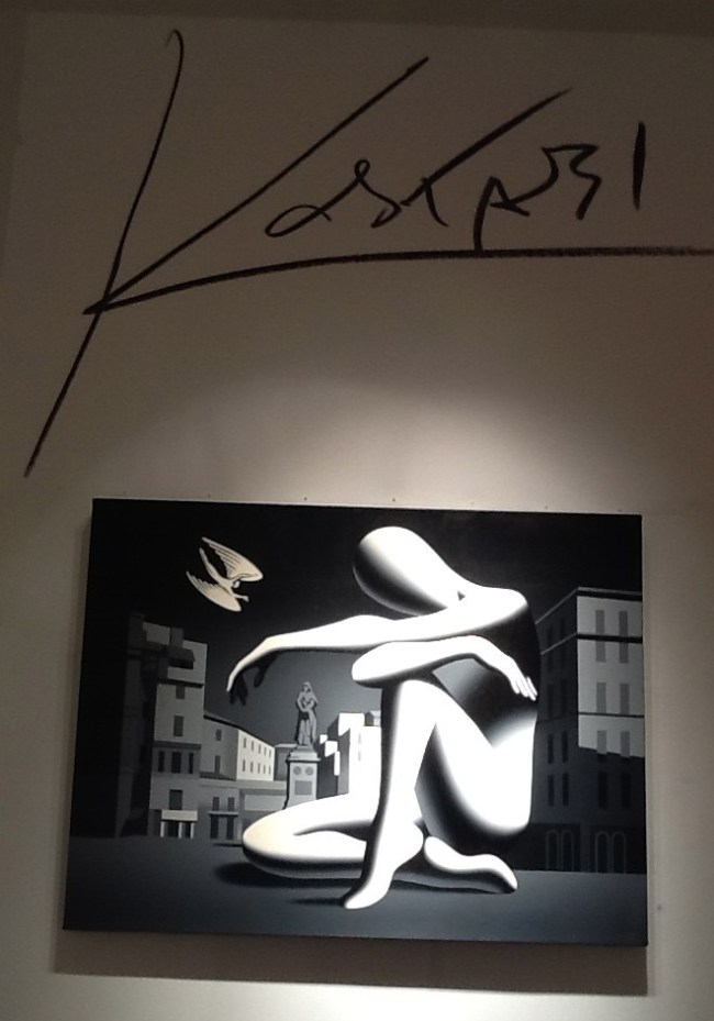 Kostabi Painting with Signature