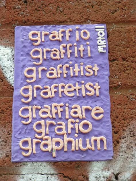 Conjugations of the Word Graffiti