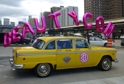 Beautycon Checkered Cab and Balloons