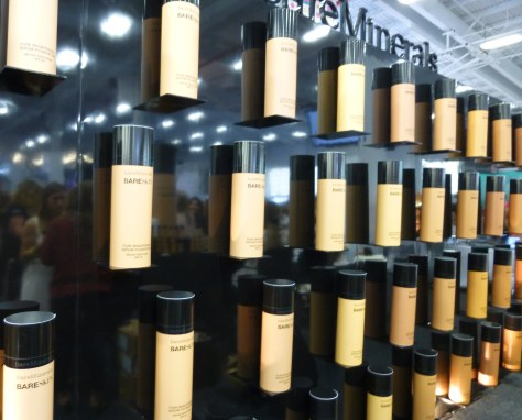 Bare Minerals Foundation Booth Display