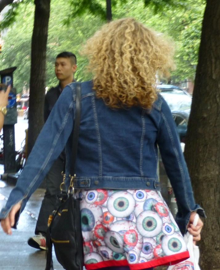 Girl Wearing Eyeball Skirt