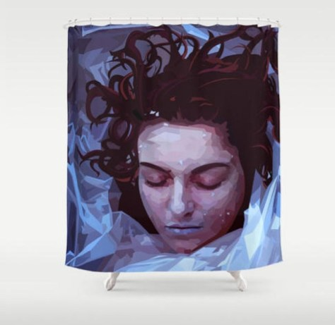 Twin Peaks Shower Curtain Laura